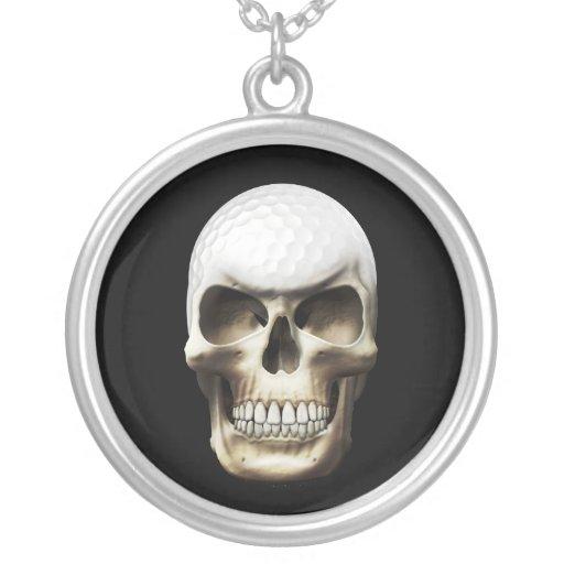 Cráneo del golf collar personalizado