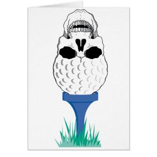 Cráneo del golf felicitación