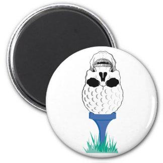 Cráneo del golf imán redondo 5 cm