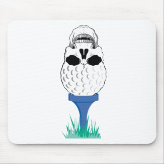 Cráneo del golf tapete de raton