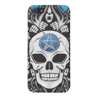 Cráneo del gótico - azul iPhone 5 funda