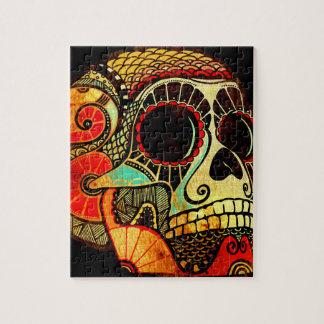 Cráneo del Grunge Rompecabezas Con Fotos