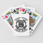 Cráneo del guardacostas baraja cartas de poker