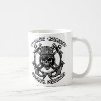 Cráneo del guardacostas taza de café