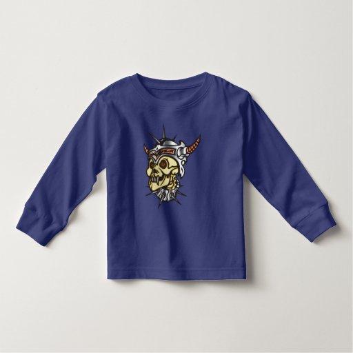 Cráneo del guerrero t-shirt