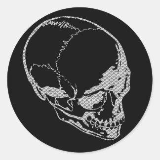 Cráneo del hierro pegatina redonda