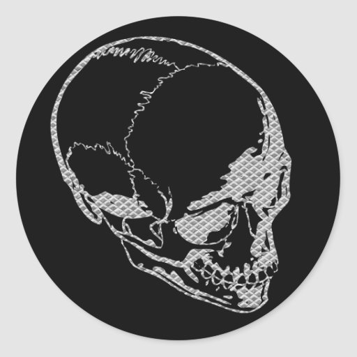 Cráneo del hierro pegatinas redondas