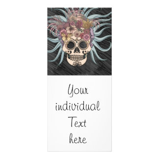 cráneo del hippie, azul tarjetas publicitarias