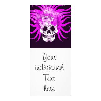 cráneo del hippie, rosado tarjeta publicitaria