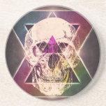 cráneo del inconformista de los años 80 posavasos diseño