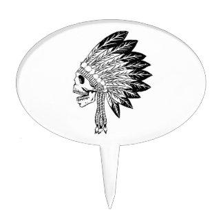 Cráneo del indio figura de tarta