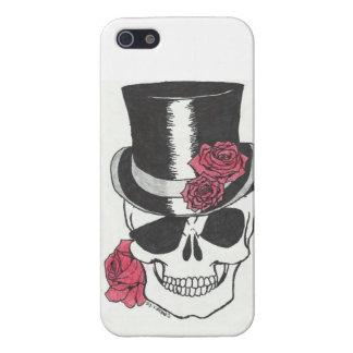 cráneo del iphone 5 con el caso de los rosas iPhone 5 carcasa