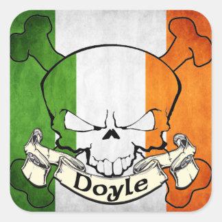 Cráneo del irlandés de Doyle Colcomanias Cuadradas