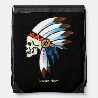 Cráneo del jefe indio mochilas