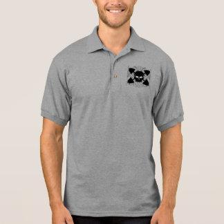 Cráneo del levantamiento de pesas camiseta polo