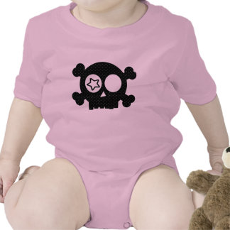 Cráneo del lunar trajes de bebé