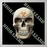 Cráneo del mal del Biohazard Poster