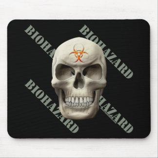 Cráneo del mal del Biohazard Alfombrilla De Ratones
