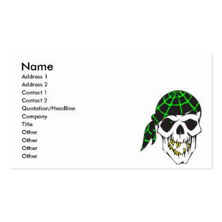 cráneo del mal del pañuelo tarjetas de visita