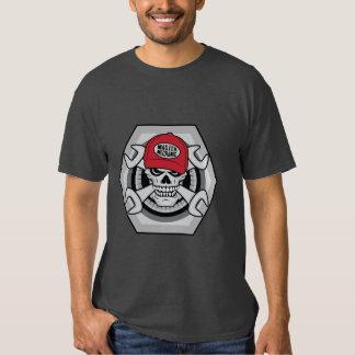 Cráneo del mecánico camisas
