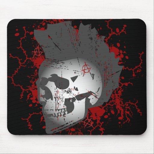 Cráneo del Mohawk de la anarquía Alfombrilla De Ratón