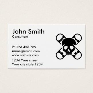 Cráneo del monopatín tarjetas de visita