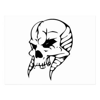 Cráneo del monstruo postal