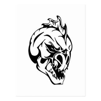Cráneo del monstruo tarjeta postal