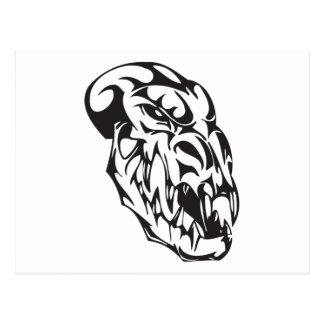 Cráneo del monstruo tarjetas postales