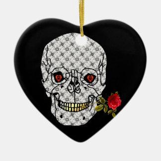 Cráneo del muchacho del amante ornamento de navidad