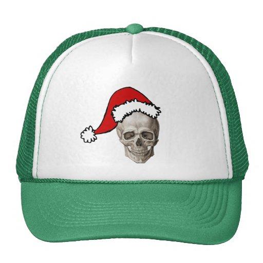Cráneo del navidad gorro