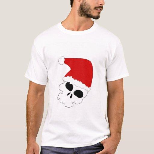 Cráneo del navidad playera