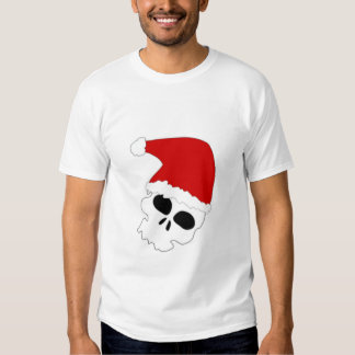 Cráneo del navidad playeras