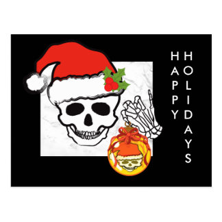 Cráneo del navidad postal