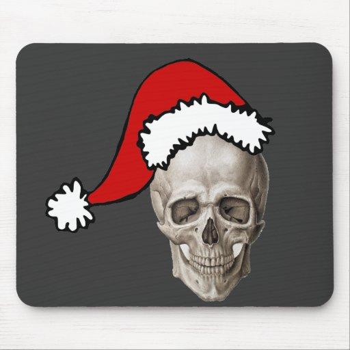 Cráneo del navidad tapetes de ratones