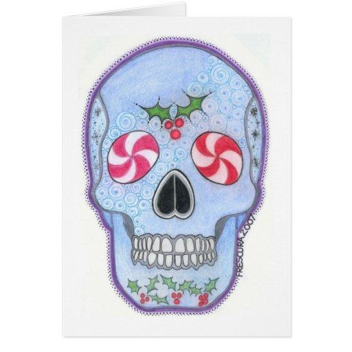 Cráneo del navidad tarjetas