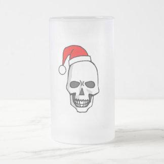 Cráneo del navidad taza cristal mate