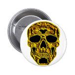 cráneo del oro 3D Pin