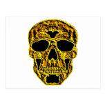 cráneo del oro 3D Postal