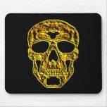cráneo del oro 3D Tapete De Raton