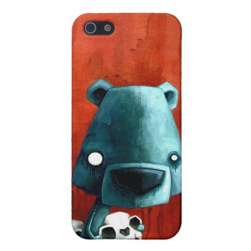 Cráneo del oso iPhone 5 fundas