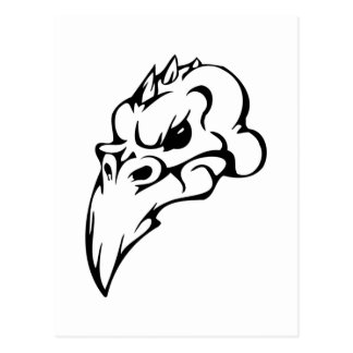 Cráneo del pájaro postales