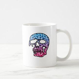 cráneo del patín de dos tonos taza de café