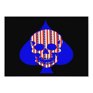 Cráneo del patriota invitación 12,7 x 17,8 cm