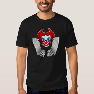 Cráneo del payaso del asesino camisas