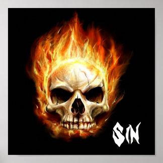 Cráneo del pecado póster