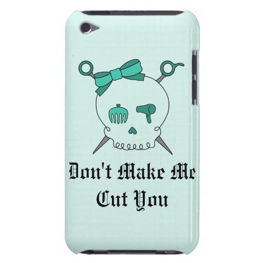 Cráneo del pelo y tijeras accesorios (turquesa #2) Case-Mate iPod touch protector