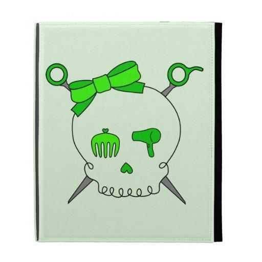Cráneo del pelo y tijeras accesorios (verde lima #