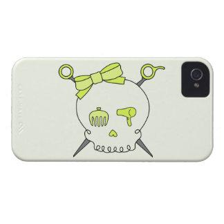 Cráneo del pelo y tijeras accesorios (versión iPhone 4 cárcasas