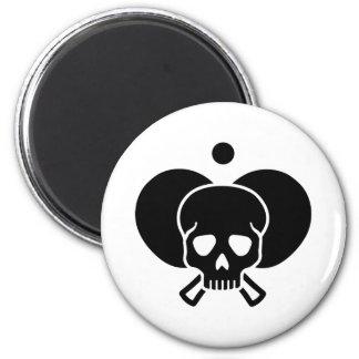 Cráneo del ping-pong imán redondo 5 cm